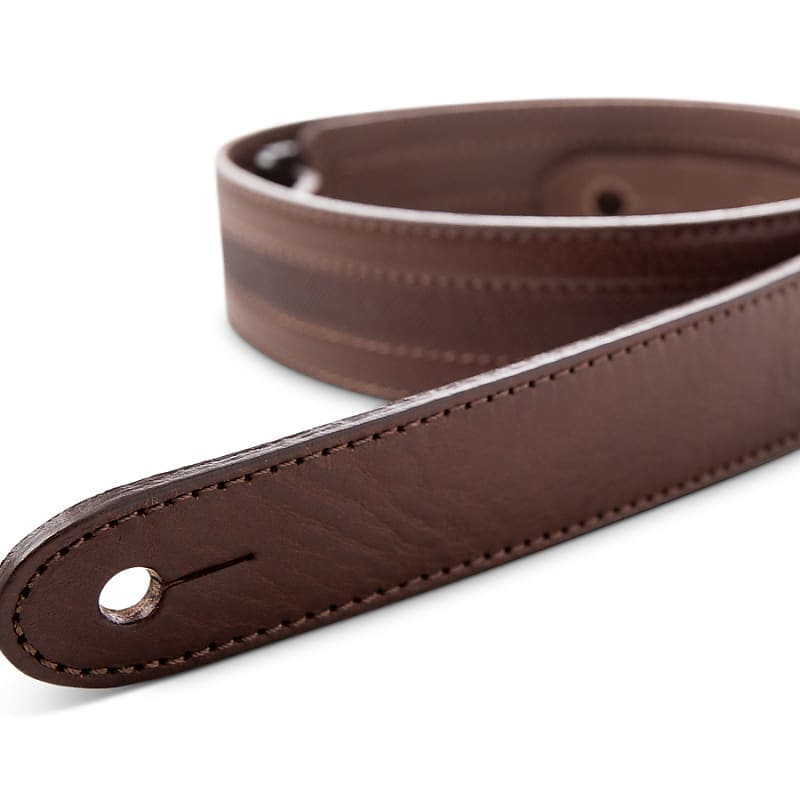 Taylor Strap, Slim Leather, Chocolate Brown, 1.5