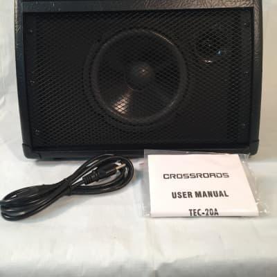 "Crossroads 20 Watt RMS Acoustic Guitar Amplifier-8"" Speaker-Overdrive/Reverb/Chorus"