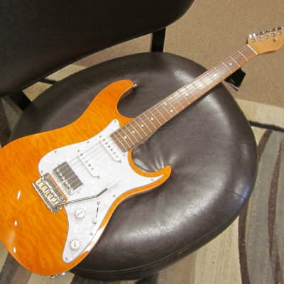 Tagima Stella DW 2020 Trans Amber electric guitar for sale