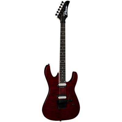 Dean Guitars MD24 FMF TCH MD 24 Select Flame Floyd Tran Cherry Guitar, Modern 24