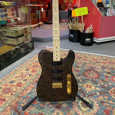 Fender James Burton US Signature Telecaster 1994 Black with Gold Paisley for sale