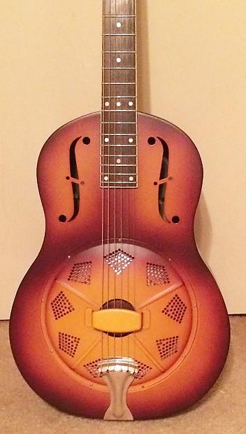 republic triolian resophonic resonator guitar 2013 12 fret reverb. Black Bedroom Furniture Sets. Home Design Ideas