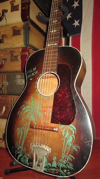 Circa  Regal Palm Beach Acoustic Parlor Guitar W Graphics