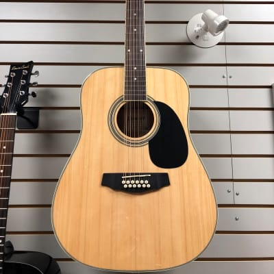 Denver DD44S12 12-String Guitar w/ Bag Natural for sale