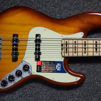 Fender American Elite Jazz Bass V Tobacco SB / Maple B-Stock = Save $50! *NOT Pre-Owned