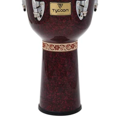 Tycoon Percussion Concerto Series Red Pearl Finish Djembe 12""
