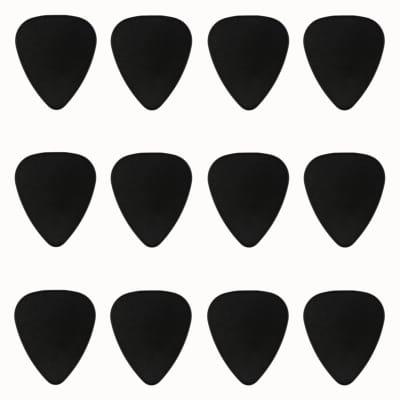 ABS Plastic Black Guitar Or Bass Pick - 0.71 mm Medium Gauge - 351 Shape - 24 Pack New