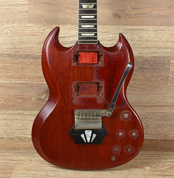 vintage 1962 gibson les paul sg ebony block guitar body neck reverb. Black Bedroom Furniture Sets. Home Design Ideas
