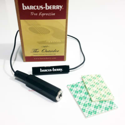 Barcus-Berry 1457 Outsider Piezo Acoustic Guitar Pickup w/1' Cable & Output Jack for sale