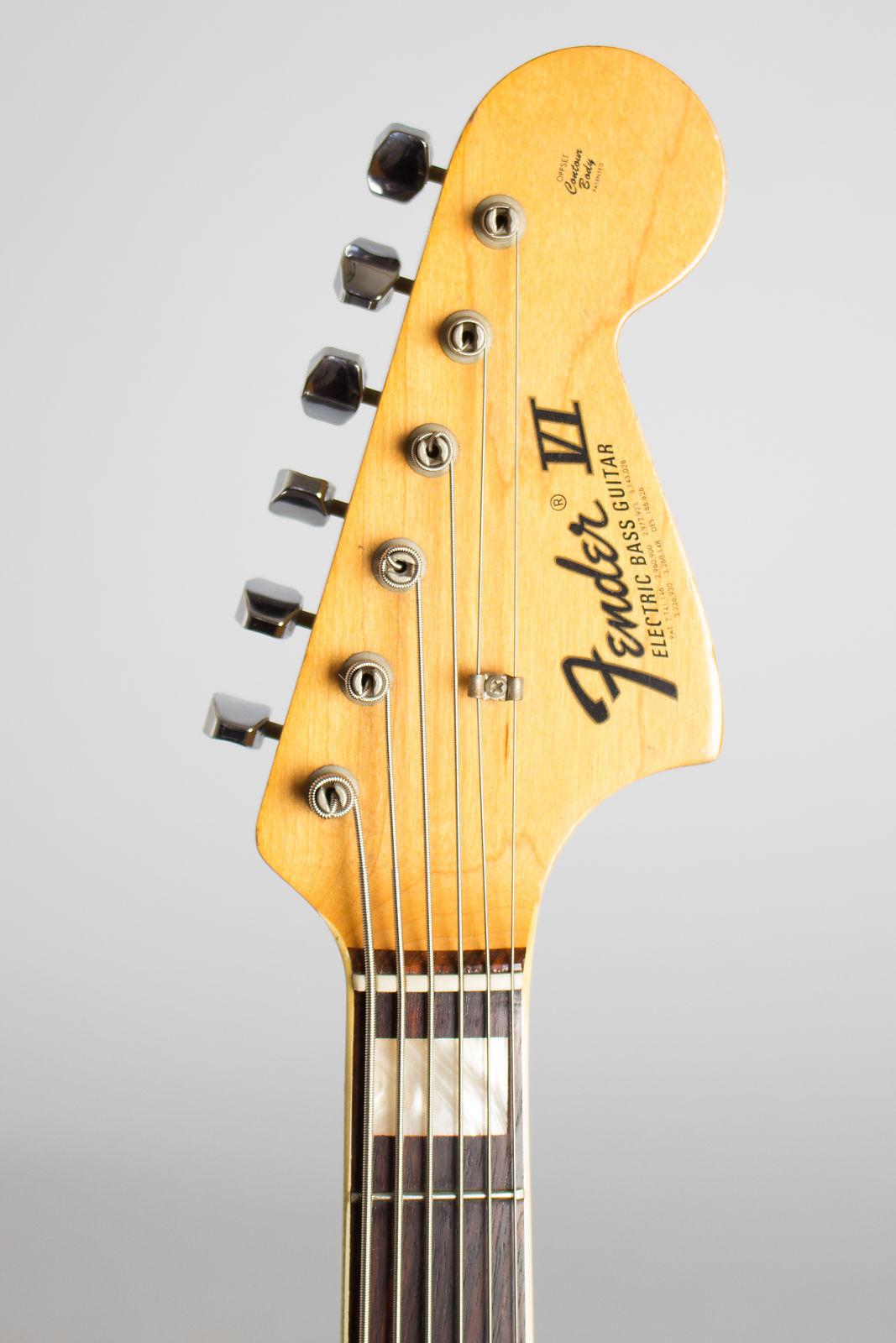Fender  Bass VI Electric 6-String Bass Guitar (1971), ser. #346160, black hard shell case.