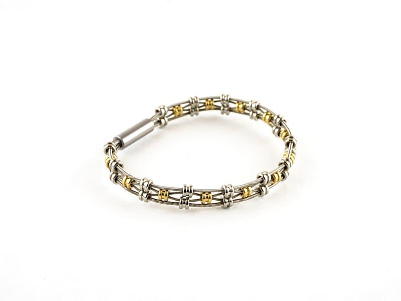 "Vanessa Guitar String Bracelet Brass Size 7"" | Reverb"