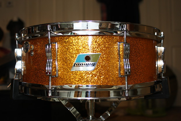 1971 ludwig 5x14 jazz festival snare drum gold sparkle reverb. Black Bedroom Furniture Sets. Home Design Ideas