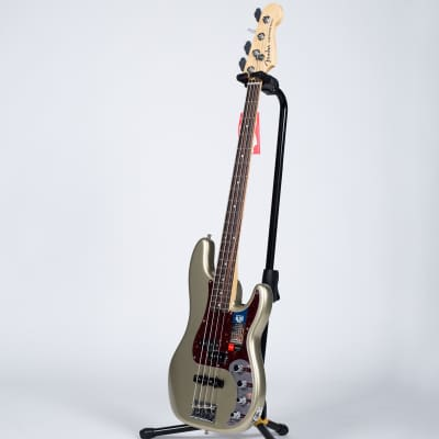 Fender American Elite Precision Bass - Ebony, Champagne for sale