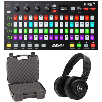Akai Fire FL Studio Controller w/ Fruity Edition Software+Rane Headphones & Case