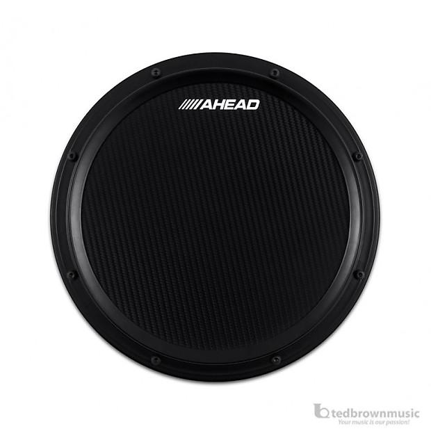 ahead s hoop carbon fiber marching practice pad w snare reverb. Black Bedroom Furniture Sets. Home Design Ideas