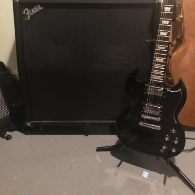 Epiphone G-400 Pro SG Electric Guitar — Ebony for sale