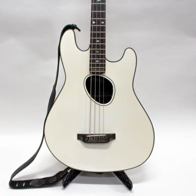 Kramer Ferrington Acoustic-Electric Bass Guitar with Case - White for sale