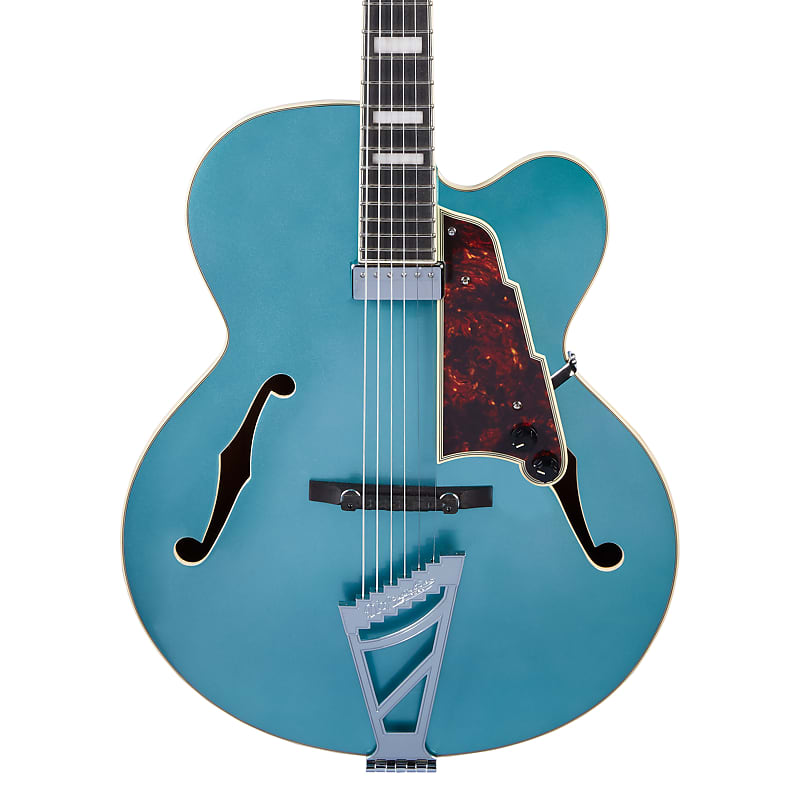 D'Angelico Premier EXL-1 Hollowbody Archtop Ocean Turquoise w/ Gig Bag
