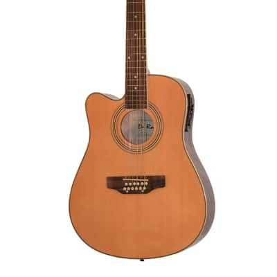 De Rosa GACE41-AW12-NT-LFT Spruce Top 12-String Acoustic-Electric Guitar Left-Handed - Natural for sale