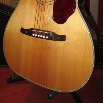 Vintage Original Circa 1969 Fender Harmony Model H1260 Sovereign Acoustic Flattop Natural for sale