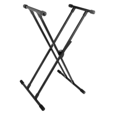 On-Stage KS8191 Lok-Tight Classic Double-X Keyboard Stand