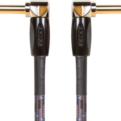"""Boss BIC-PC-3 Instrument Cable 6"""" - Angled 1/4 Jacks - 3 Pack"""