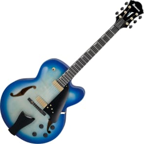 Ibanez Contemporary Archtop AFC155 Hollow Body Electric Guitar Jet Blue Burst for sale