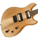 Lomic Gemini Offset Handmade Neck Through Electric Guitar 24.75 Scale #004 Mahogany USA Made