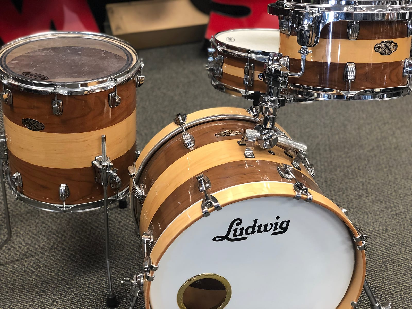Ludwig Epic X Over 4pc Bop Shell Pack Used