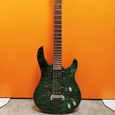 Brian Moore Custom Shop C55P Piezo 1997 Quilt Maple Top , Green for sale