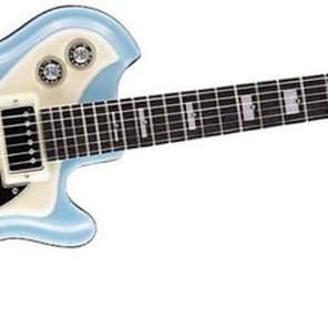 Italia Mondial Classic Series Semi-Hollow Blue Electric Guitar for sale