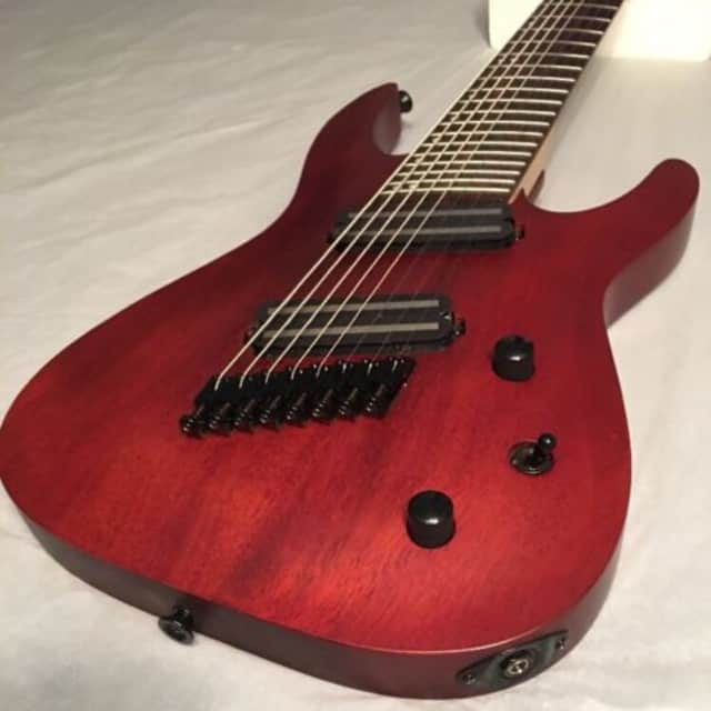 Jackson X Series Dinky Arch Top DKAF8 MS 8-String Electric Guitar - Stained Mahogany image