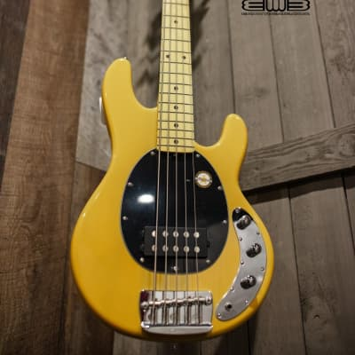 Sterling Stingray 5 Classic Butterscotch 5 String Bass Guitar RAY25CA-BSC-M1