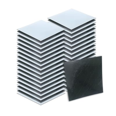 Arrowzoom 64 pieces 11 x 11 x 0.05 inches L- Black and White Marble Design Self Adhesive Floor PVC Vinyl Tile