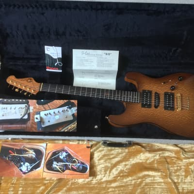 """Ron Thorn  So-Cal """"S/S"""" Custom Series  2010 Caramel Spalted Lacewood Top Chambered Mahogany Body VGC for sale"""