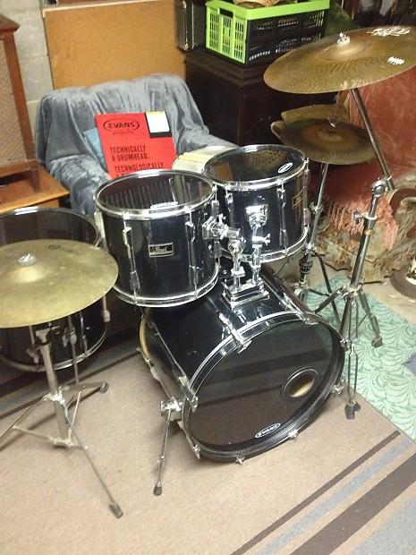 vintage pearl export 5 piece rock drum set with cymbals reverb. Black Bedroom Furniture Sets. Home Design Ideas