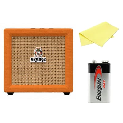 Orange Amplification Crush Mini 3-Watt Battery Powered Guitar Combo Amplifier Bundle (Orange)