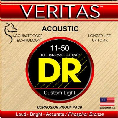 DR Strings VTA-11 VERITAS Acoustic Strings - 11-50 for sale