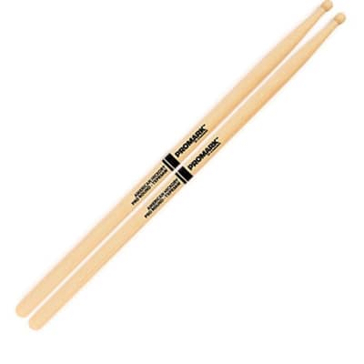 "Pro-Mark TXPR5AW Hickory 5A ""Pro-Round"" Wood Tip Drumsticks"