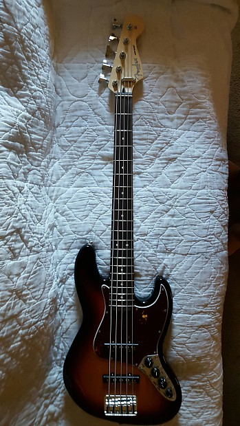 fender deluxe active jazz bass 5 string made in mexico reverb. Black Bedroom Furniture Sets. Home Design Ideas