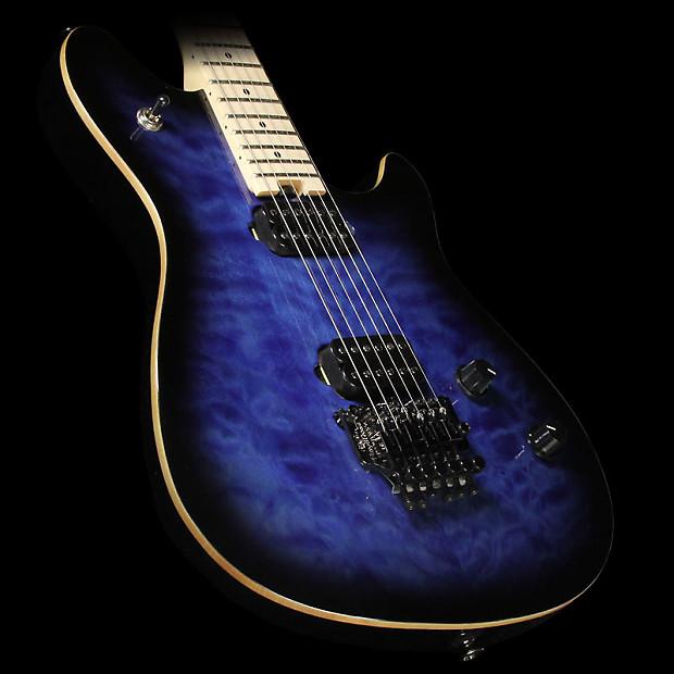 evh wolfgang wg standard electric guitar transparent blue reverb. Black Bedroom Furniture Sets. Home Design Ideas