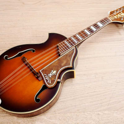 1950s Kay K70 Vintage Mandolin Venetian Style Sunburst Spruce Top USA-Made for sale