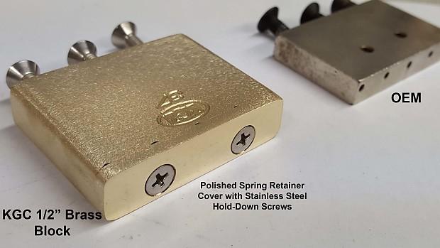 KGC Brass 40mm x 1/2 in  Tremolo Block -Floyd Rose -Big Block -Upgrade  Tone, Sustain-World's Finest