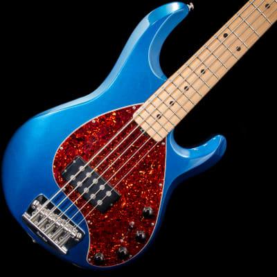 Music Man StingRay 5 H Five-String Bass Guitar  2000 Blue Pearl w/ Hard Case
