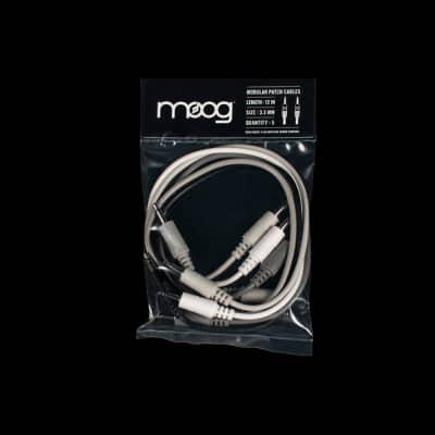 """Moog Mother-32 Eurorack Analog Synthesizer 1/8"""" TS Patch Cable 5-pack 12"""""""