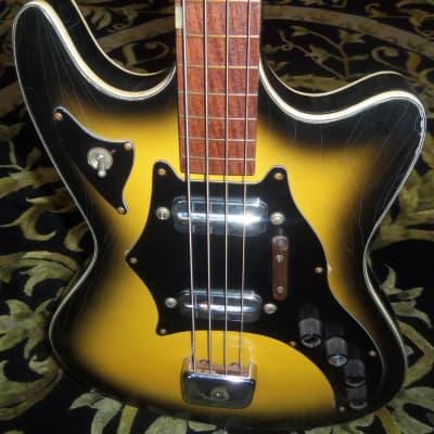 Kay Truetone Double Pickup Bass 1960's Yellowburst for sale