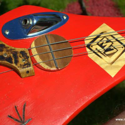 M7instruments Hurley Stick Slide  3 cordes 2019 Rouge / Vernis mat for sale