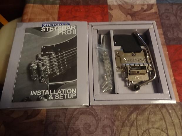 Left Handed Stetsbar Pro II Tremolo Chrome Rare No Mods to guitar
