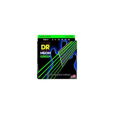 DR Strings NGR-9 Neon Electric Strings 09-42 Green