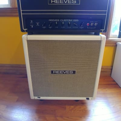 REEVES C225 Tube Bass Amp with 4x10 Sealed Cabinet/Cover & Mesa Casters - Hiwatt - SVT - Orange for sale